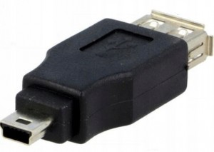 ADAPTER GNIAZDO USB - WTYK MINI USB VITALCO